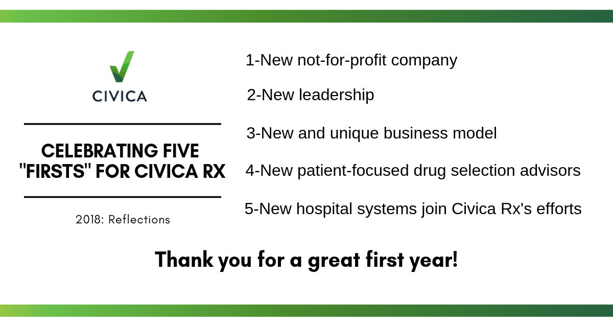 Five Firsts for Civica Rx